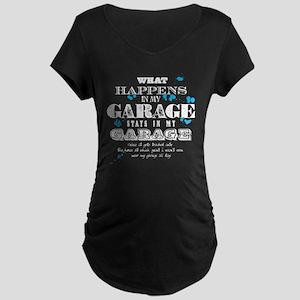 It Stays in My Garage Maternity Dark T-Shirt