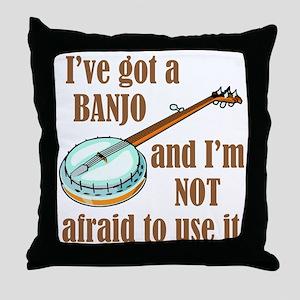 I've Got a Banjo Throw Pillow