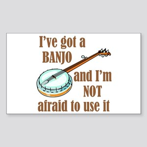 I've Got a Banjo Sticker (Rectangle)