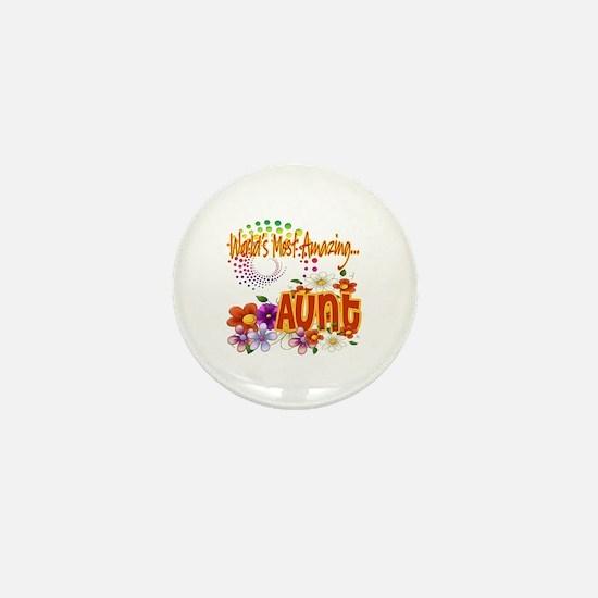 World's Amazing Aunt Mini Button