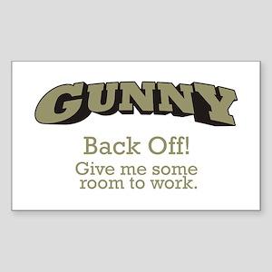 Gunny - Back Off Sticker (Rectangle)