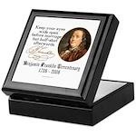 Ben Franklin Marriage Quote Keepsake Box
