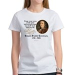 Ben Franklin Marriage Quote Women's T-Shirt