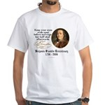 Ben Franklin Marriage Quote White T-Shirt