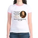 Ben Franklin Marriage Quote Jr. Ringer T-Shirt