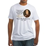 Ben Franklin Marriage Quote Fitted T-Shirt