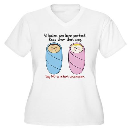 """Say no to circumcision"" Intactivist Women's Plus"