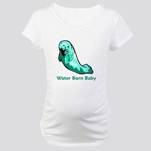 Water Born Baby (Manatee) Maternity T-Shirt