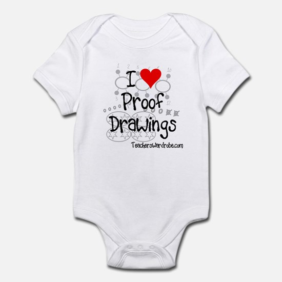I Love Proof Drawings Infant Bodysuit