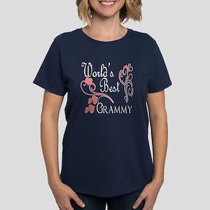 Best Grammy (Pink Hearts) Women's Dark T-Shirt