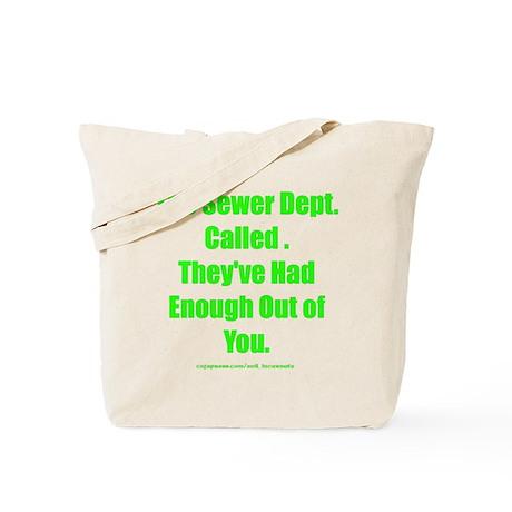 Sewer Dept. Tote Bag