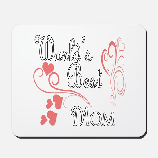 Best Mom (Pink Hearts) Mousepad