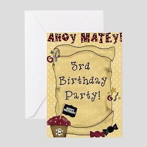 3rd Birthday Pirate Greeting Card