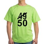 Great 50th Birthday Green T-Shirt