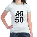 Great 50th Birthday Jr. Ringer T-Shirt