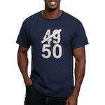 Great 50th Birthday Men's Fitted T-Shirt (dark)