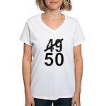 Great 50th Birthday Women's V-Neck T-Shirt