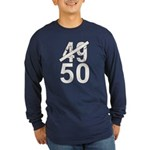 Great 50th Birthday Long Sleeve Dark T-Shirt