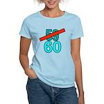 60th Birthday Gifts, 59 to 60 Women's Light T-Shir