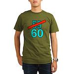60th Birthday Gifts, 59 to 60 Organic Men's T-Shir