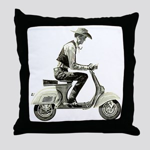 Scooter Cowboy Throw Pillow