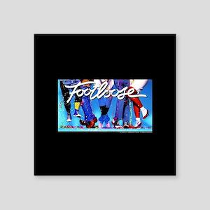 "Footloose Dancing Feet Square Sticker 3"" x 3"""