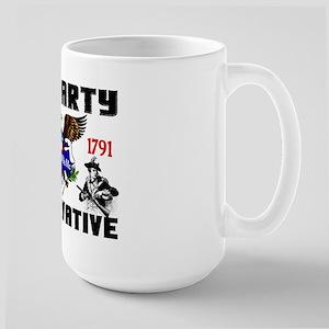 """Tea Party Conservative"" Large Mug"