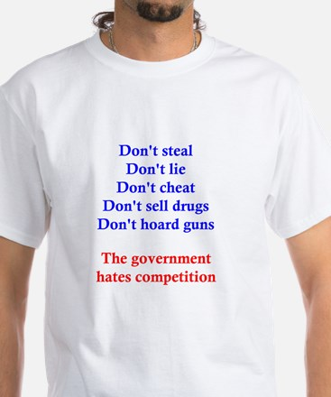 Government Competition White T-Shirt