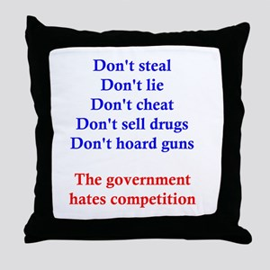 Government Competition Throw Pillow