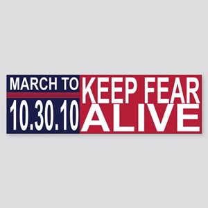 March to Keep Fear Alive Sticker (Bumper)