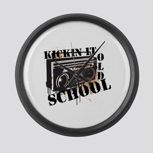 Kickin' It Old School Large Wall Clock