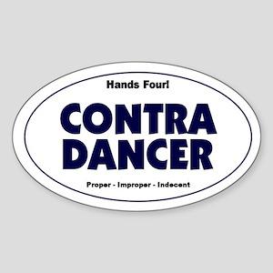 Contra Dancer Vinyl Oval Bumper Sticker