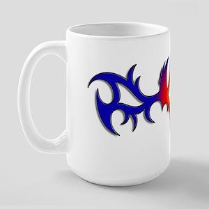 Diamons Wings Tattoo Large Mug