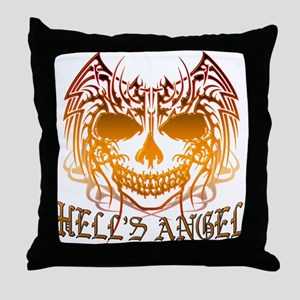 Hell's Angel Throw Pillow