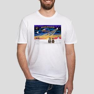 X-Sunrise-2 Tabbys Fitted T-Shirt