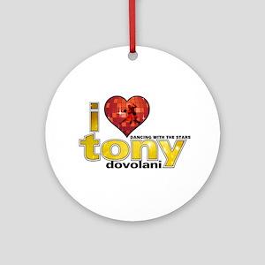 I Heart Tony Dovolani Round Ornament