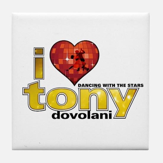 I Heart Tony Dovolani Tile Coaster