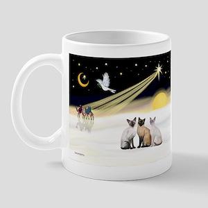 XmasDove-3 Siamese cats Mug