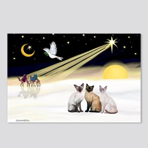 XmasDove-3 Siamese cats Postcards (Package of 8)