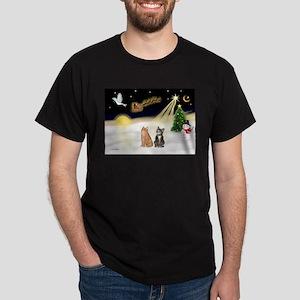 Night Flight-2 Tabbys Dark T-Shirt