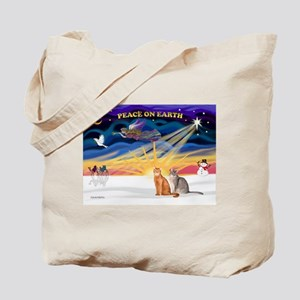 X-Sunrise-2 Abyssinians Tote Bag