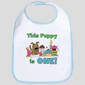 1st Puppy Birthday Bib