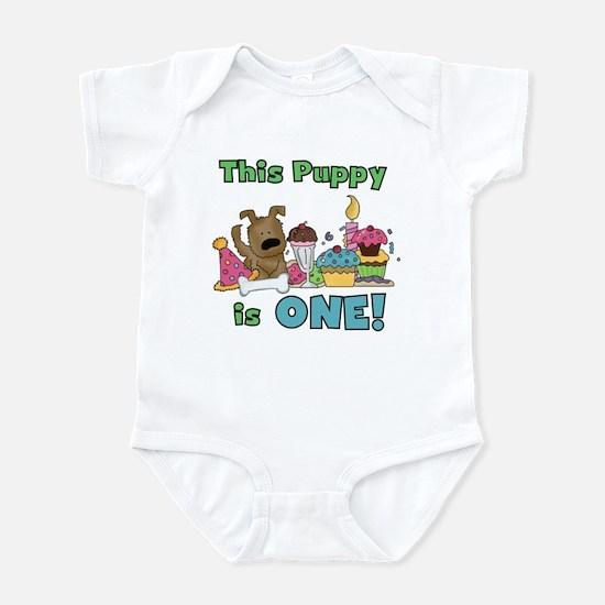 1st Puppy Birthday Infant Bodysuit