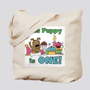1st Puppy Birthday Tote Bag