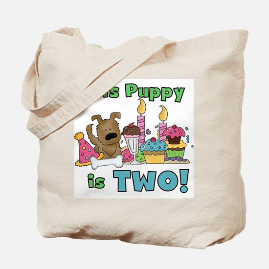 2nd Puppy Birthday Tote Bag