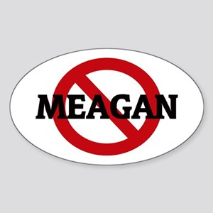 Anti-Meagan Oval Sticker