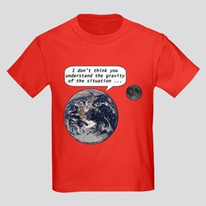 Gravity of the situation Kids Dark T-Shirt