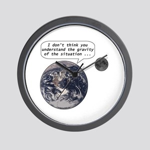 Gravity of the situation Wall Clock