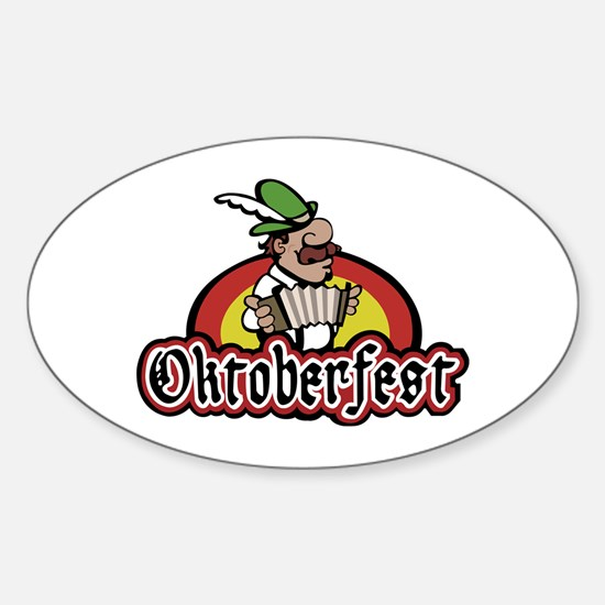 Oktoberfest Sticker (Oval)