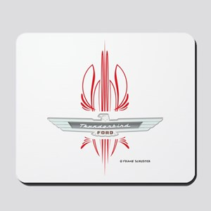 T Bird Emblem Pinstripes Mousepad